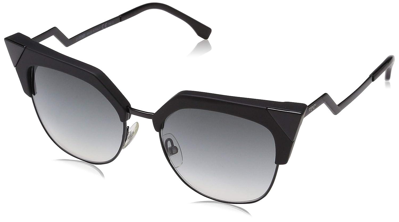 Amazon.com: anteojos de sol FENDI 149/S 0807 Negro/9O gris ...