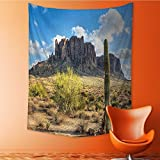AmaPark Popular Art Tapestry Famous Canyon Cliff with Dramatic Cloudy Sky Southwest Terrain Place Room Bedroom Living Room Dormitory Decoration 40W x 60L Inch