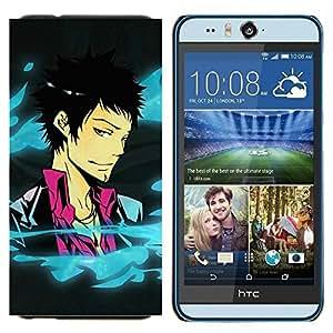 YiPhone /// Prima de resorte delgada de la cubierta del caso de Shell Armor - Cool Funny Anime Chico - HTC Desire Eye M910x