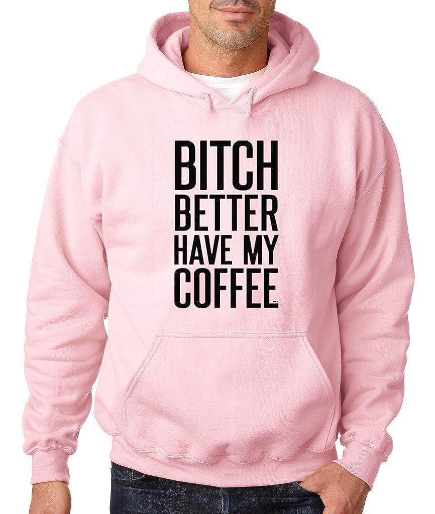 VISHTEA Bitch Better Have My Coffee Hoodie I Love Coffee Sweatshirt