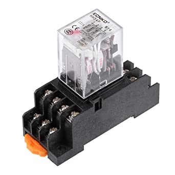 uxcell HH54P AC 12V Coil DPDT 14 Pins Red Light Electromagnetic Power on