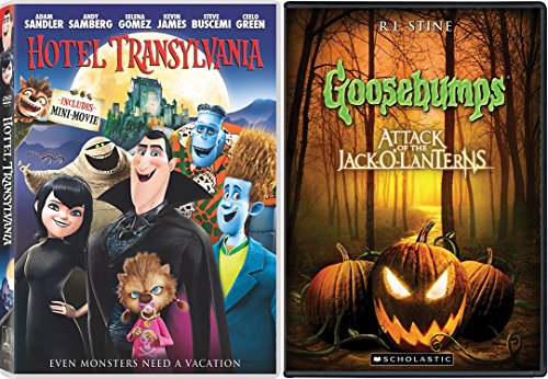 Goosebumps: Attack of the Jack-o-lanterns & Hotel Transylvania Animated Movie - Halloween Double Feature Creepy family (Dancing With The Stars Halloween Special)