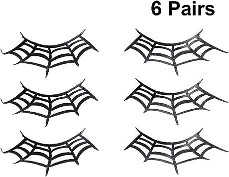 Minkissy 6 Pairs Spider Web Fake Eyelashes Makeup Art Eyelashes Extension Halloween Costume Party False Eyelashes Buy Online At Best Price In Uae Amazon Ae