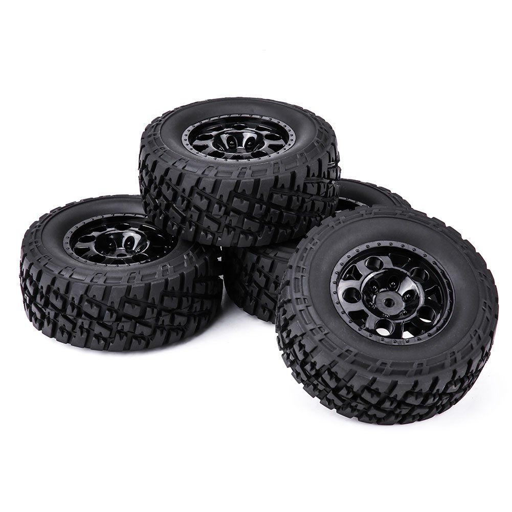 4Pcs RC Car Tires Tyres Wheels Rims Hubs Accessory for HSP HPI TAMIYA TRAXXAX 1:10 Short Couse Truck Dilwe 1:10 Truck Tires 3005A