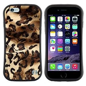 """Pulsar iFace Series Tpu silicona Carcasa Funda Case para Apple iPhone 6 / 6S (4.7 INCH) , Patrón Leopard Moda Piel vestido de Diseño"""""""
