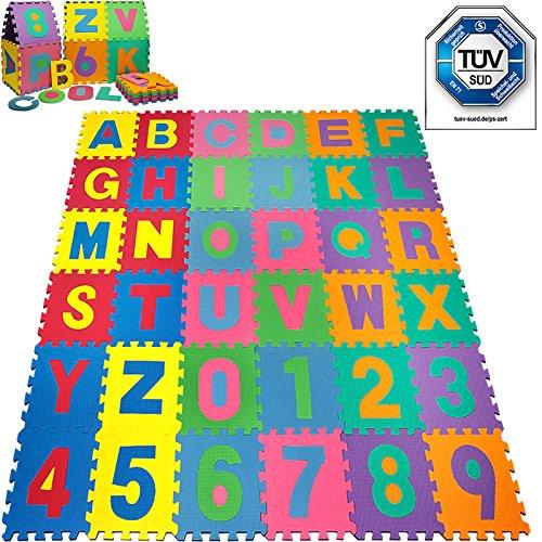 Alfombra-Puzle-86-Piezas-Alfombrilla-de-Juego-Infantil-Gomaespuma-de-Colores-Rompecabezas