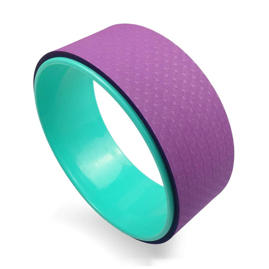 vert+violet B Exercice Roue Roue de Yoga,33cm × 13cm pour la Pose de la Roue de Yoga Dharma, pour L'étireHommest et L'amélioration des Postures améliorer la Flexibilité