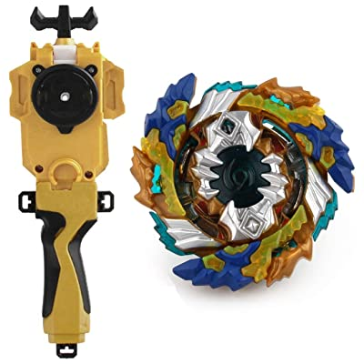 Battling Toys Burst Booster Geist Fafnir.8`.Ab B-122 Starter with Battling String Launcher Burst Bey Launcher LR (Left & Right Turning)+String Launcher Grip