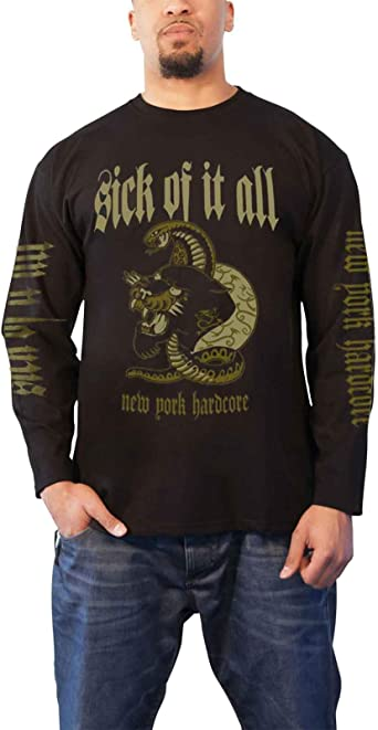 Sick Of It All /'Panther/' Long Sleeve Shirt NEW /& OFFICIAL!