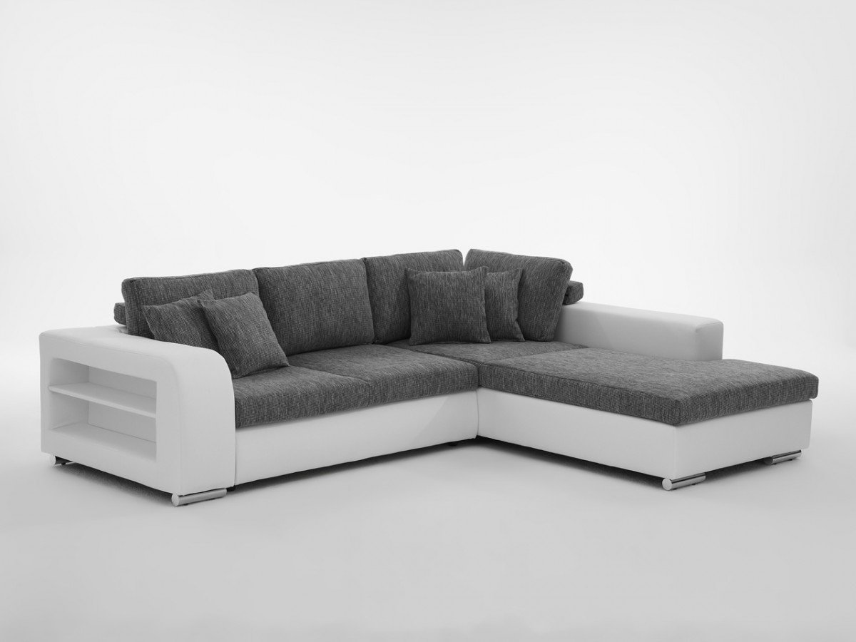Dreams4home ecksofa 39 tyra i 39 ecksofa couch l form for Schlafsofa mit lattenrost