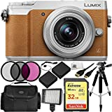 Panasonic Lumix DMC-GX85 Mirrorless Micro Four Thirds Digital Camera & Lumix G Vario 12-32mm f/3.5-5.6 Lens (Brown) 12PC Accessory Bundle. Includes Sandisk Extreme 32GB SDHC Memory Card + MORE