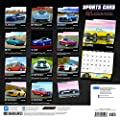 Sports Cars 2018 12 x 12 Inch Monthly Square Wall Calendar with Foil Stamped Cover by Plato, Racing Sports
