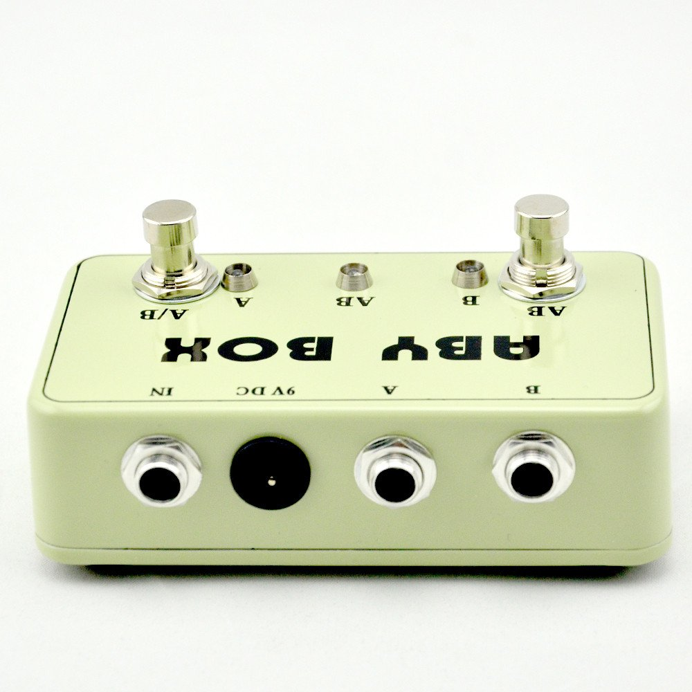 NEW Guitar ABY Switcher Effect Stomp Pedal Box for Electric Guitar True Bypass Yellow by LANDTONE