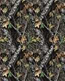 Springs Creative Products Group Mossy Oak Break Up No Sew Fleece Throw Kit, Brown