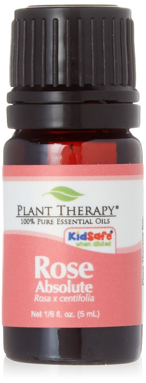 Plant Therapy Rose Absolute Essential Oil | 100% Pure, Undiluted, Natural Aromatherapy, Therapeutic Grade | 5 milliliter (1/6 ounce)