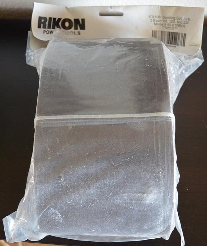 """6 Pack Rikon 6/"""" x 108/"""" Sanding Sander Belts 80, 120, 220 Grit 6 pack"""