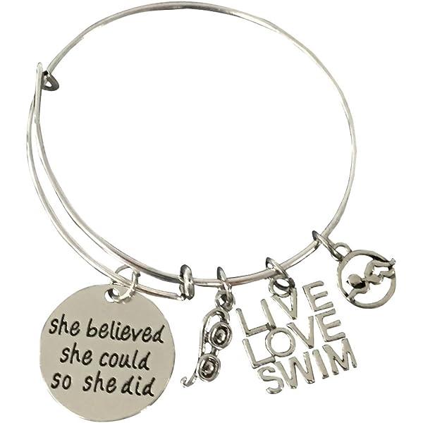 Swim Jewelry for Swimmers Swim Bracelet Infinity Collection Swimming Bracelet