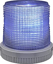 Edwards Signaling 105XBRMB24D XTRA-BRITE LED Multi-Mode Beacon, Heavy Duty, 24V DC, Blue