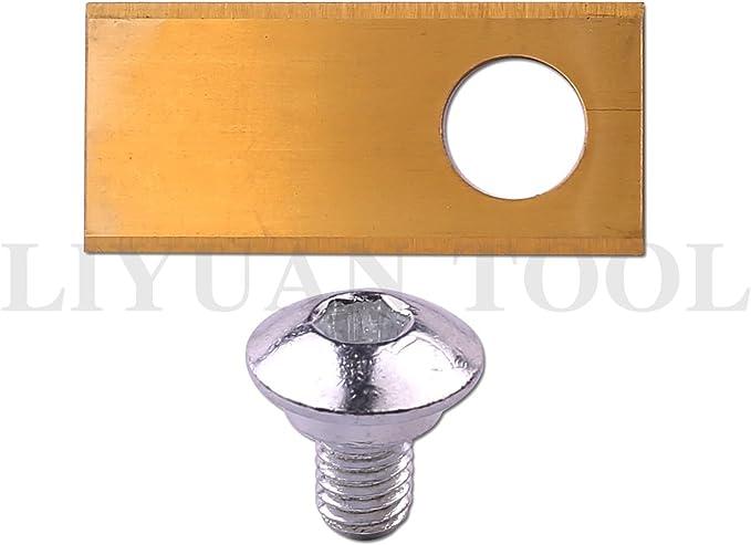 9 x t0.5 mm Titanium Golden Spare Knife Blades & Screws For Honda ...