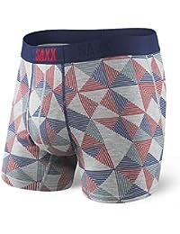 Saxx Underwear Men's Ultra Boxer Fly Grey Pyramid Check Small