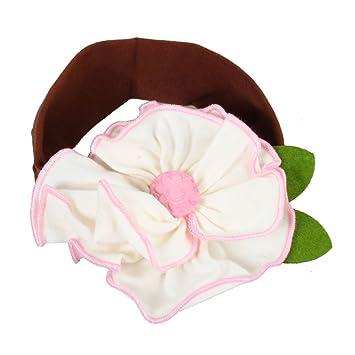 Amazon.com   White Flower Cotton Girls Baby Newborn Child Kids Toddler  Infant Coffee Hair Accessories Hairband Headband Headbands Head Band    Fashion ... 82d000c5d0b5