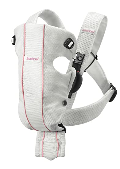 Amazon.com   BABYBJORN Baby Carrier Air - White, Mesh (Discontinued by  Manufacturer)   Child Carrier Front Packs   Baby 2a3873ffac9