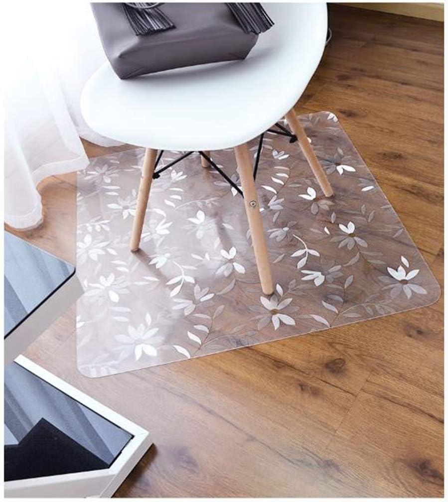 BEIGOO-M PVC Cojín De Silla Transparente,Almohadilla Protectora El Plastico Antideslizante Resistente Utilizado para Suelos Duros Dormitorio Silla De Ruedas Alfombra del Piso-50x80cm(20x31inch)-2.1mm