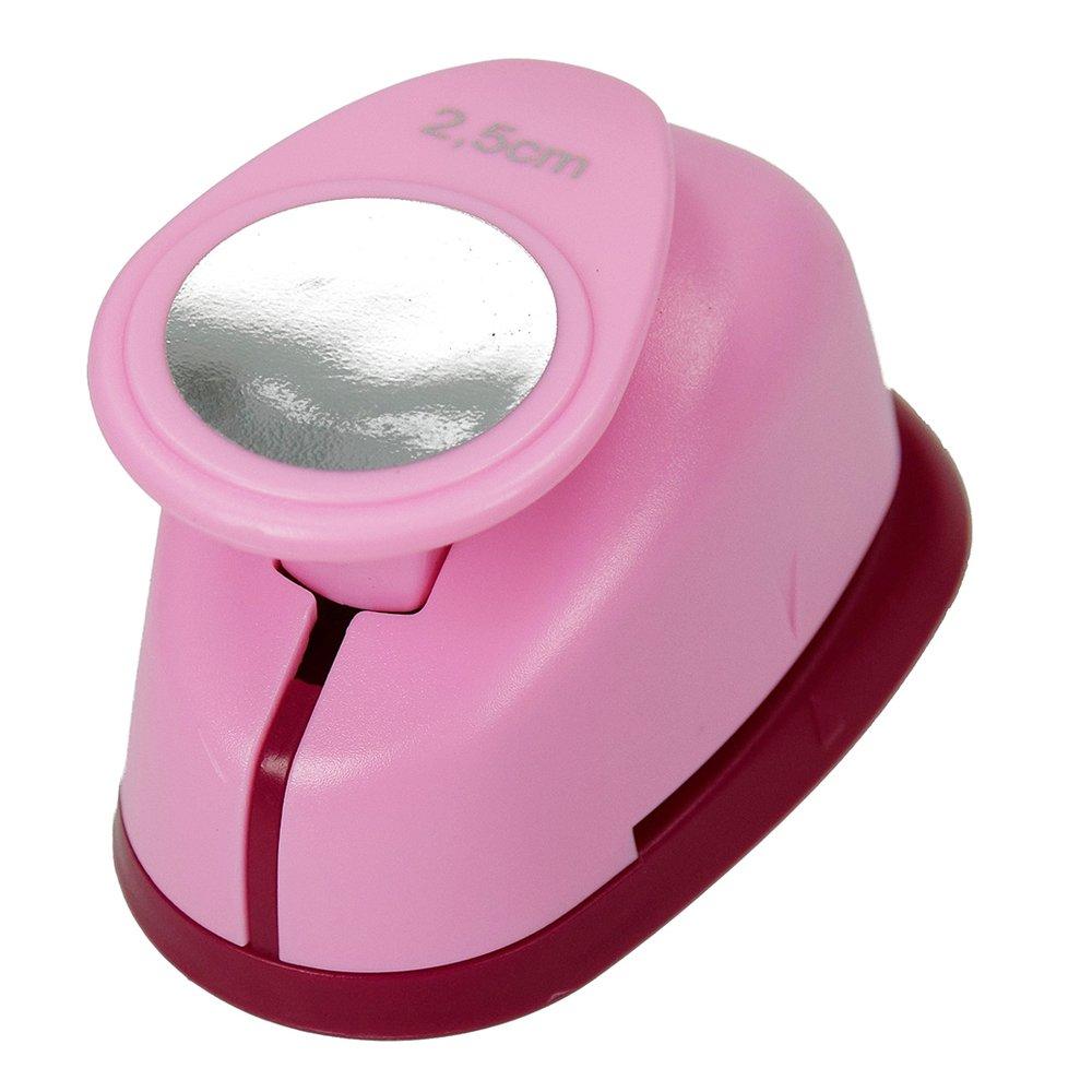 Efco 2.5 cm/1-Inch Medium Circle Punch, Pink 1791010