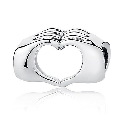 5fea88fa4378 Amor corazón Bead Charm Abalorio charm amor en tus manos