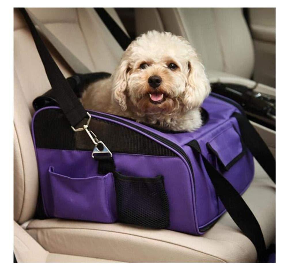 QWhing QWhing QWhing Travel Car Pet Pet Carrier Oxford Pet Bag, Borsa da Trasporto in Uscita Borsa per Animali Forniture per Animali Gabbia per Cani Viola Borsa per Animali Domestici b0ec2c