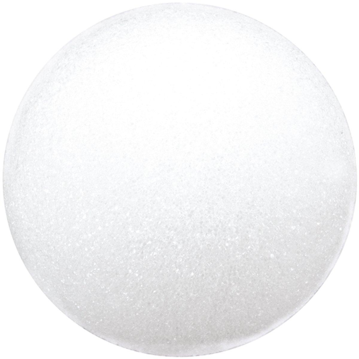 Floracraft Styrofoam Ball, 4-Inch, White, 2-Pack BA4H