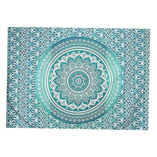 (florance jones Indian Tapestry Wall Hanging Decor Mandala Hippie Gypsy Bedspread Throw Bohemian   Model THRW - 1295   79&x 59&)