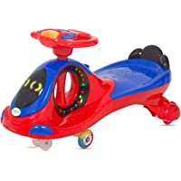 Twist and Swing Magic Car with LED Lights, Musical Rhymes and Backrest (Pink) - Fun N Joy