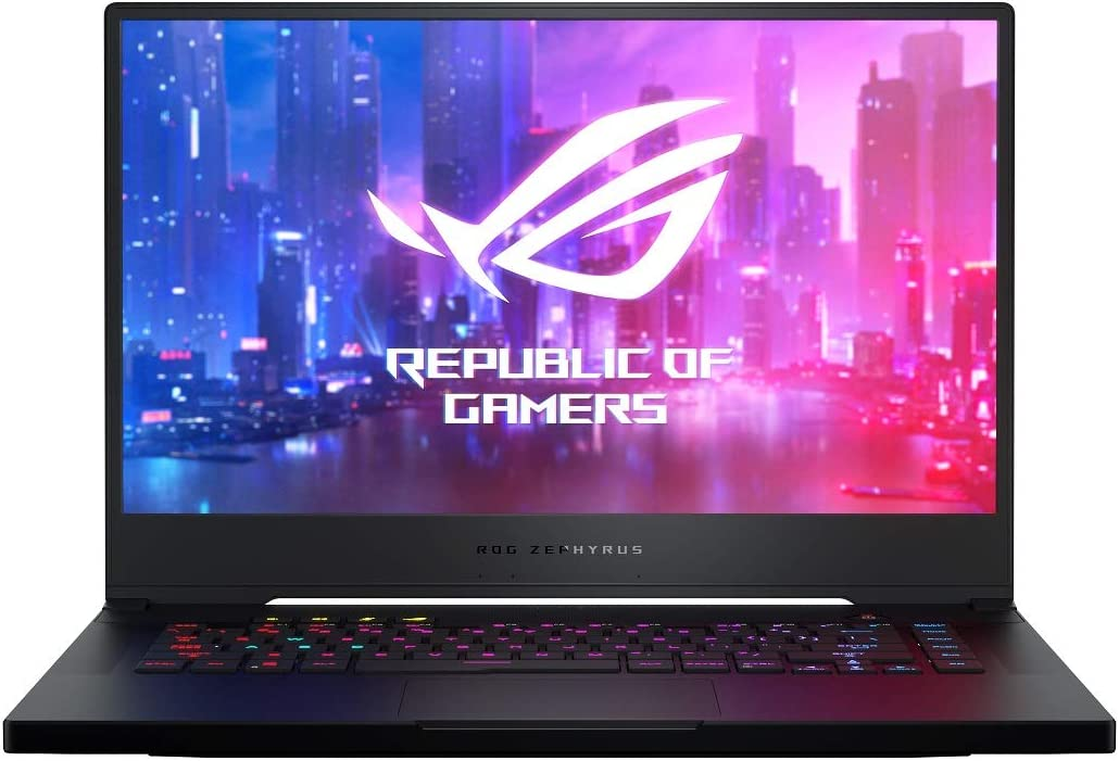 "CUK ASUS ROG Zephyrus S GX502GV Gaming Laptop (Intel i7-9750H, 32GB RAM, 1TB NVMe SSD, NVIDIA GeForce RTX 2060 6GB, 15.6"" FHD 144Hz G-SYNC, Windows 10 Home) Gamer Notebook Computer"
