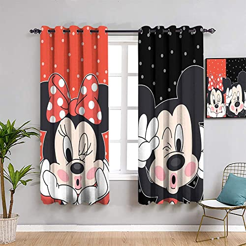 Mick-ey Mou-se Black Out Curtain Panels