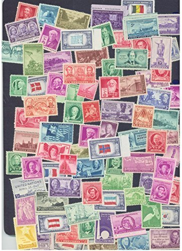 25 Very Old Mint U.S. Stamp Collection from 1930s and 1940s