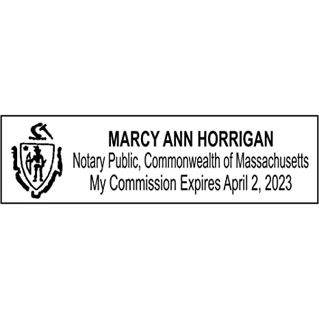 Image Unavailable Not Available For Color Massachusetts Notary Rectangle Stamp