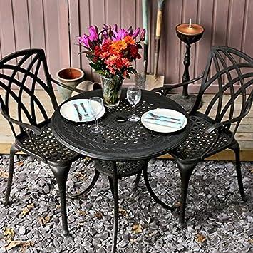 Lazy Susan - Table Ronde 80 cm Anna 2 chaises de Jardin ...