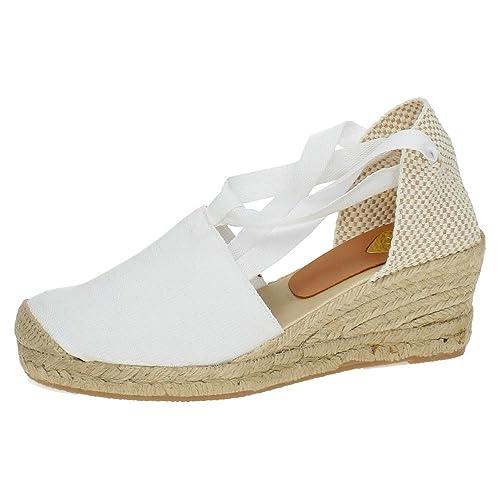 TORRES 5000 VALENCIANAS Blancas Mujer Alpargatas: Amazon.es: Zapatos y complementos