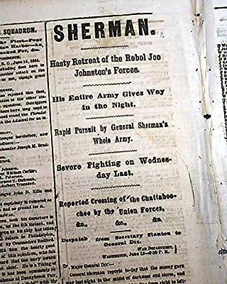 JESSE JAMES Gang Bardstown Kentucky & 2nd Petersburg Civil War 1864 Newspaper