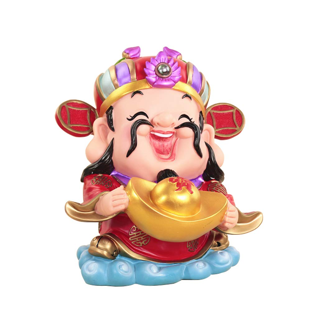 ADbank Resinic Piggy Bank Coin Storage, Money Box Chinese Style Fortune God Gifts for Children Friends, Also Ornaments for Room Decorations,A by ADbank
