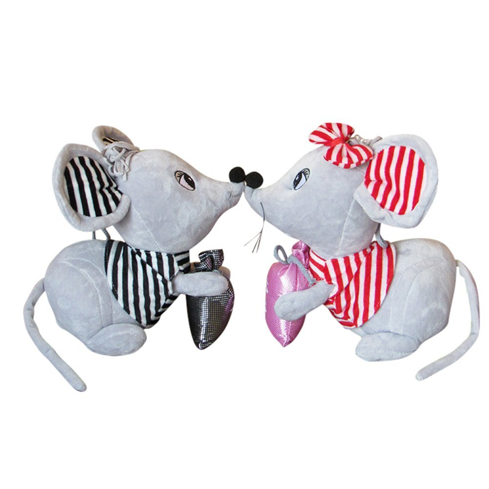 Couple 40cm RemeeHi Super Cute Plush Mouse Stuffed Animal Toys, 16 inches Stuffed Mice Couple Doll (One Pair)