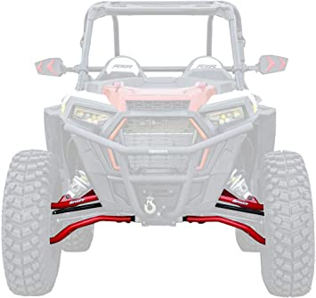 2014+ - Black SuperATV High Clearance 2 Forward Offset Front A-Arms for Polaris RZR XP 1000 Run Huge Tires without a Huge Lift!
