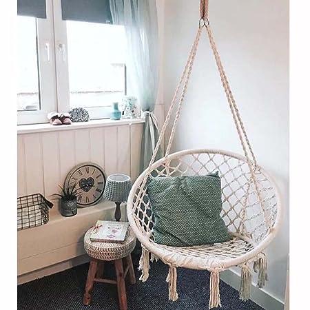 Hammock Chair   Hanging Rope Swing   Versatile   Hangs Indoors Or Outdoors  Hammock Leisure Camping