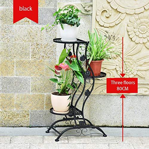 HRYP European Flower Stand in Ferro battuto Creativo verde Luo LAN LAN Pavimento Multi-Layer Indoor Fiore Stand Balcone Vaso di Fiori carnoso cremagliera