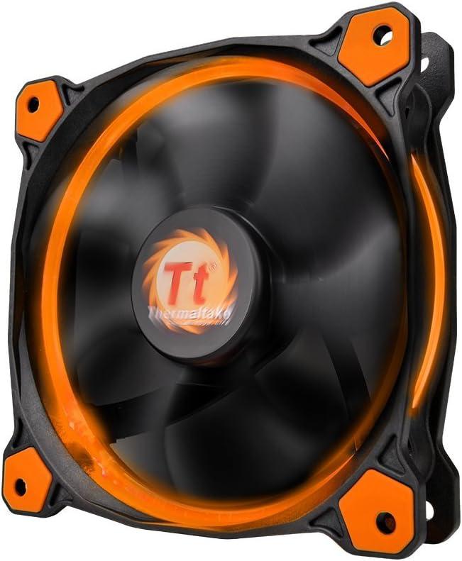 Thermaltake Ring 12 High Static Pressure 120mm Circular LED Case Radiator Cooling Fan CL-F038-PL12OR-A Orange
