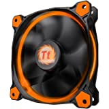 Thermaltake Ring 12 High Static Pressure 120mm Circular LED Case Radiator Cooling Fan CL-F038-PL12OR-A Orange