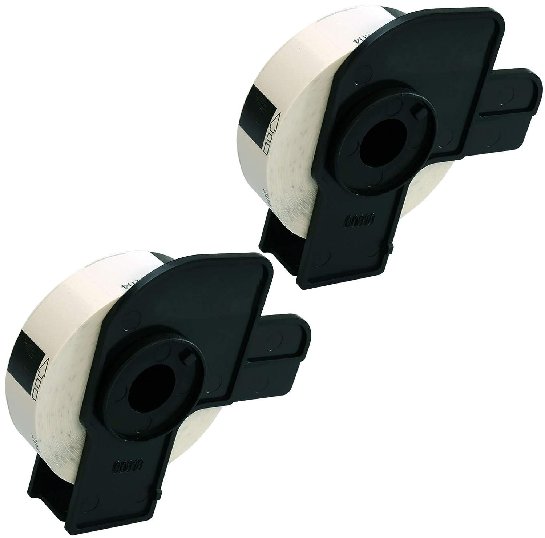 Prestige Cartridge 50x DK11204 17mm x 54mm Papier /Étiquettes pour Brother P-Touch QL-500 QL-550 QL-570 QL-700 QL-720 QL-800 QL-810 QL-820 QL-1100 QL-1110 Etiqueteuses 400 /Étiquettes par Rouleau