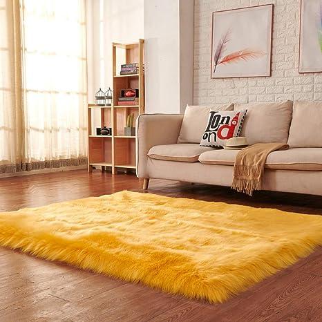 Soft Fluffy Anti-Skid Floor Rug Shaggy Area Dining Room Bedroom Carpet Floor Mat