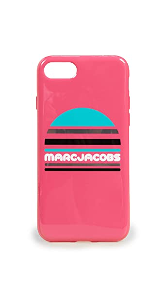 detailed look 0790a d32f5 Amazon.com: Marc Jacobs Sport Logo iPhone 7/8 Case, Peony Multi ...